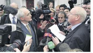 Irish Media Scrum